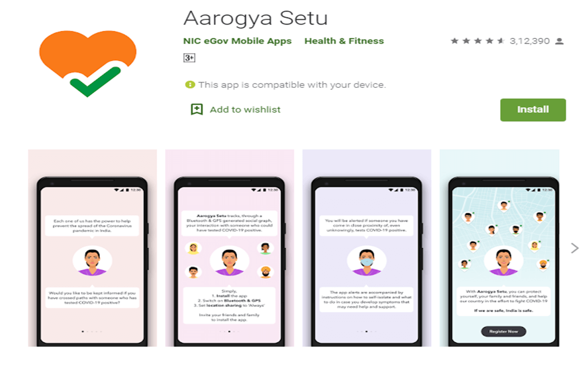 PM Modi requests Indian Aarogya Setu App COVID-19 Aarogya Setu App Free Install Play Store indianmemoir