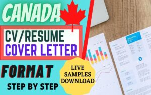 how-to-make-a-canada-resume-format-cv-canada-cover-letter-samples-canada-download-video www.indianmemoir.com