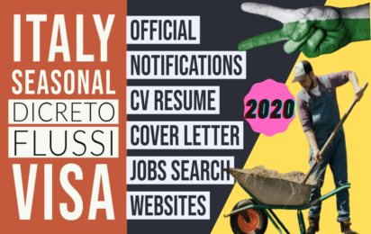 How to make Decreto Flussi 2020 Italy Seasonal Visa Resume | CV Cover Letter Format | find Jobs | Free Download www.indianmemoir.com