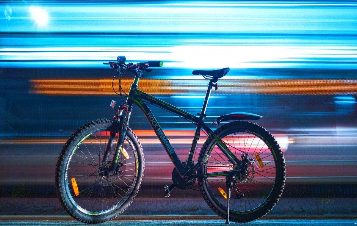 a mountain bike is showing